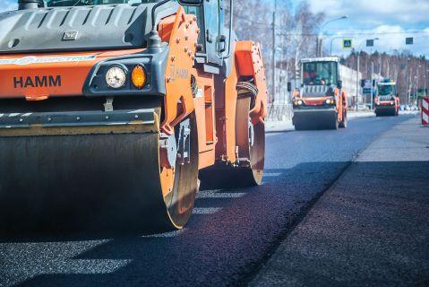каток ремонт дороги