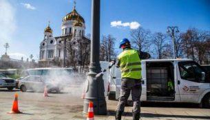помывки городских фонарей Москвы