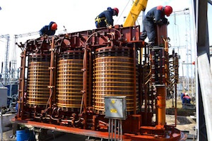 капремонт силового трансформатора 1Т на подстанции 110 кВ «Райманово».
