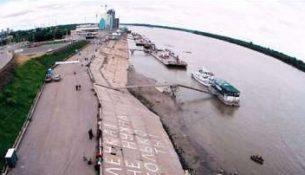 обмелевшая река Кубань