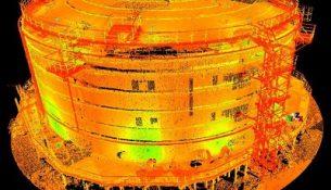 3D-сканирование с внешней и внутренней сторон резервуара методом наземного лазерного сканирования