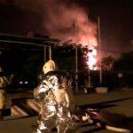 Пожар в газохранилище в Котлы начался после взрыва в здании операторной
