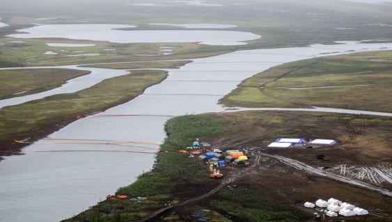 разлив дизтоплива в Норильске