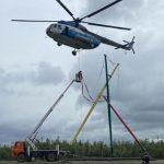 В Югре впервые построили быстровозводимую ЛЭП на болоте, вернув свет обесточенной непогодой Нягани