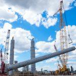 На площадке нового этиленового комплекса «Нижнекамскнефтехима» установлена самая высокая колонна