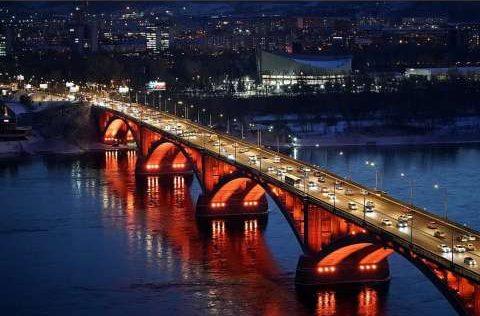 Николаевский мост, Красноярск