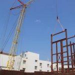 На стройплощадке котельной Ижевской ТЭЦ-1 за день установили 30-тонный каркас водогрейного оборудования