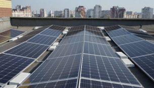 крышная СЭС солнечные панели