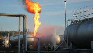 пожар на газонаполнительной станции Газпрома в Казани