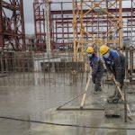На стройплощадке Курской АЭС-2 бетонируют перекрытие надземной части здания турбины энергоблока №2