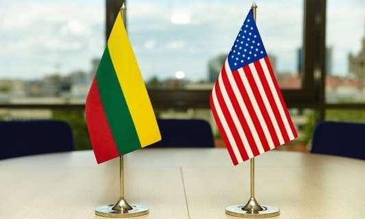 флаг Литва США