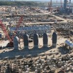 На 5-ой линии Амурского ГПЗ завершили монтаж 5-ти адсорберов общим весом 1150 тонн