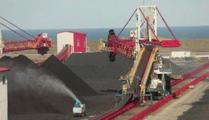 угольный терминал в порту Ванино, Хабаровский край