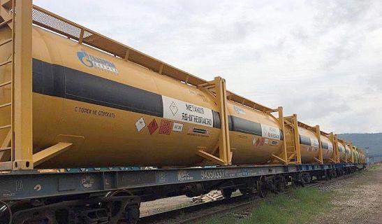специализированные контейнеры-цистерны для перевозки метанола