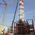 Строительство Ижевской ТЭЦ-1 достигло «экватора» – установили дымовые трубы