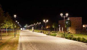 освещение ночной город