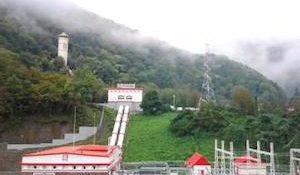 малая гидроэлектростанция (ГЭС) на реке Бешенка в Краснодарском крае