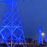 «Орёлэнерго» украсило архитектурной подсветкой ЛЭП 110 кВ «Узловая Химмаш»