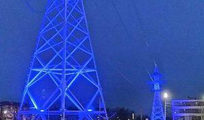 Подсветка опор ВЛ 110 кВ «Узловая Химмаш» на Кромском шоссе в г. Орёл