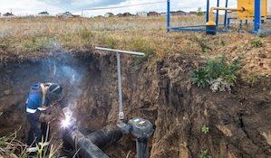 ремонт трубы газоровода