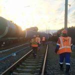 На железной дороге в месте схода поезда под Ковровом проводились ремонтные работы