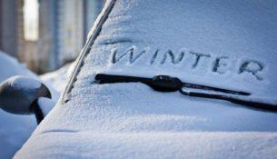 автомобиль дворники зима