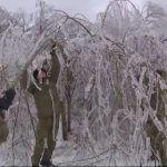 Удар циклона: машины приморцев до сих пор в ледяной скорлупе