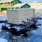 Якутская ТЭЦ спустила на воду плавучую насосную станцию