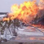 В Полтавской области Украины взорвался магистральный газопровод