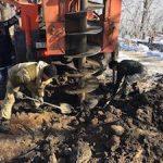 Во Владивостоке устанавливают третью опору ЛЭП, питающую район Чуркин