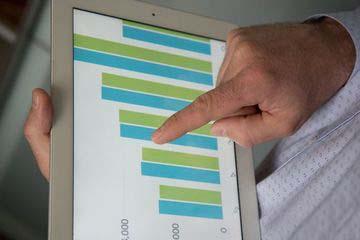планшет график диаграмма