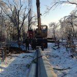 ДРСК монтирует опоры ЛЭП 110 кВ в районе Чуркин