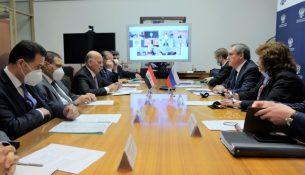 Николай Шульгинов и Министр иностранных дел Республики Ирак Фуад Хусейн