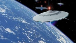 космос летающая тарелка