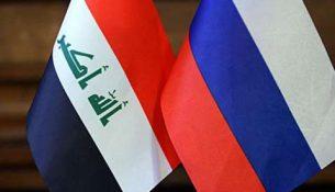 флаги Россия и Ирак