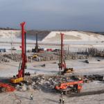 На стройплощадке Амурского ГХК развернуто погружение свай на всех технологических объектах