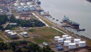 Нефтяной терминал в порту Клайпеды