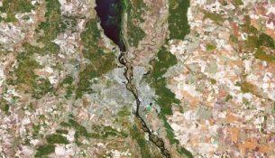 Снимок Киева из космоса