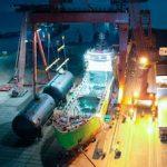 На будущий СПГ-бункеровщик «Газпром нефти» установлено ключевое оборудование