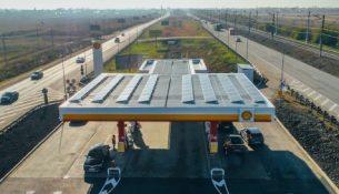 солнечные батареи на АЗС «Шелл»