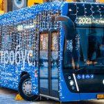 Новогодние электробусы будут курсировать по Москве до 10 января