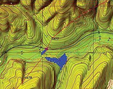 карта рельефа поверхности