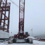 На стройплощадку Курской АЭС-2 доставлен кран грузоподъемностью 750 тонн
