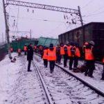 В Приамурье сошли с рельсов 25 вагонов с углем