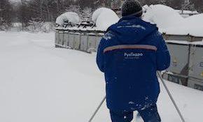 снег непогода «Сахалинэнерго»