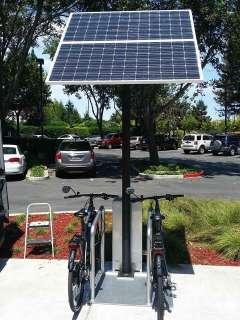 Велопарковки с солнечными панелями