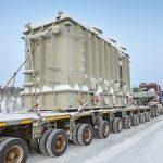 На стройплощадку Кольской ветроэлектростанции доставлен трансформатор