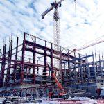 На стройплощадке Курской АЭС-2 армируют основание для турбоагрегата
