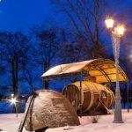 В Сестрорецке подсветку получил памятник первой русской подлодке