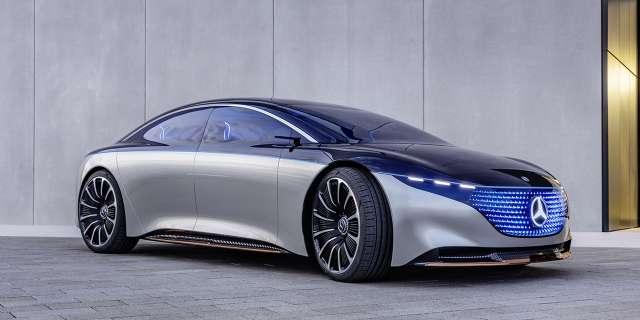 флагманский электрокар Mercedes-Benz